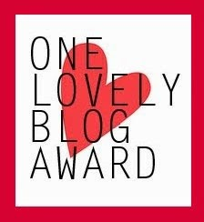 One Lovely Blog Award (1/2)