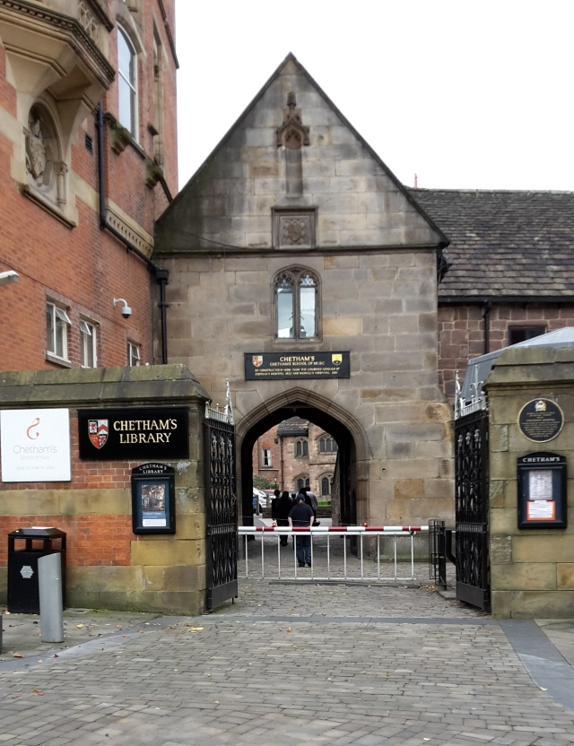 Chethams Entrance
